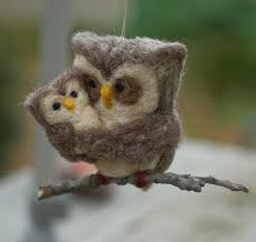 needle felted owl ornament the owl