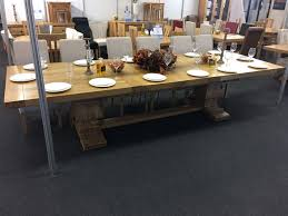 galahad solid oak extra large extending dining table oak