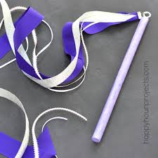 ribbon wands easy magic ribbon wand for kids happy hour projects