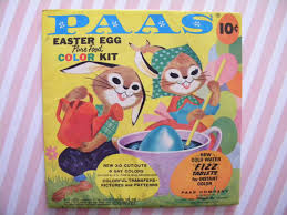 paas easter egg dye vintage package of paas easter egg dye kit with transfers and egg