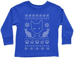 threadrock tees for adults and kids cat ugly christmas sweater