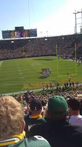 Lambeau Field Map Lambeau Field Section 101 Home Of Green Bay Packers