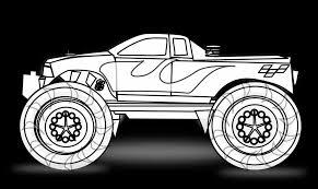 monster trucks for kids blaze monster truck drawings color marycath info