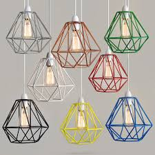 Metal Ceiling Light Shades Modern Industrial Caged Metal Ceiling Pendant Light Shade Vintage
