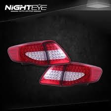 2010 toyota corolla tail light bulb nighteye toyota corolla headlights 2011 2013 angel eye led headlight