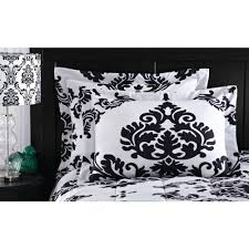 Black And White Bed Sheets Mainstays Classic Noir Bed In A Bag Bedding Set Walmart Com