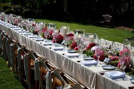 outdoor wedding table setting ideas wedding party decoration