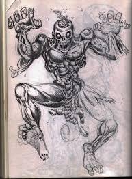 oooold zombie sketch circa 1996 zombie art by rob sacchetto