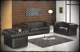 Leather Livingroom Sets Black Leather Sofa For Living Room Interior Carameloffers