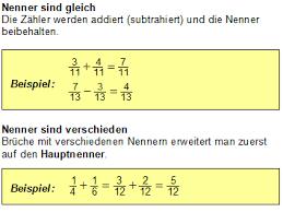 brüche addieren und subtrahieren übungen mathematik digital grundwissen brüche zum wiki