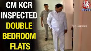 cm kcr inspects 2 bedroom houses at bhoiguda teenmaar news 01
