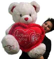 big valentines day teddy bears white teddy s day big plush i you soft stuffed