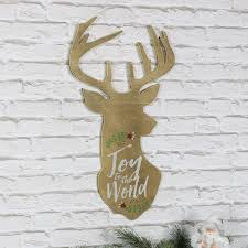 to the world wooden stag wall plaque melody maison