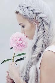 Frisuren Lange Wei゚e Haare by Die 102 Besten Bilder Zu Frisuren Auf Blumen Frisuren