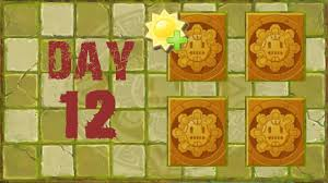 plants vs zombies 2 lost city day 12 produce 5000 sun no