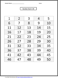 7 best images of number sheets 1 to 50 printable printable