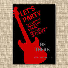 rock n roll birthday boy invitation13 or by fancyshmancynotes