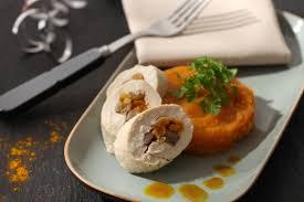 cuisiner la patate douce recettes volaille farcie purée de patates douces recette avec fruits secs