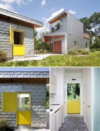 door design ideas 9 examples of modern dutch doors contemporist a friendly yellow dutch door welcomes guests to this guest house and fits with the modern country home theme the designers were aiming for