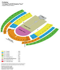 Air Canada Seat Map by Coldplay To Play In Singapore On April 1 At National Stadium