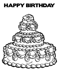 Expensive Birthday Cake Coloring Pages Netart Birthday Cake Coloring Pages