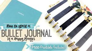 free printable how to start a bullet journal in a happy planner