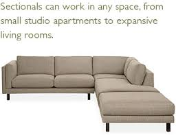 Room And Board Sectional Sofa Sectionals Can Work In Any Space From Small Studio Apartments To