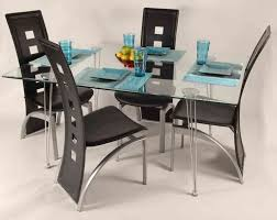 Cheap Glass Dining Room Sets Rectangular Glass Dining Table Prices - Black glass dining room sets