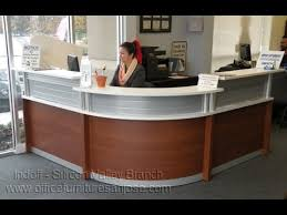 Esquire Glass Top Reception Desk Modern Reception Desk Rounded Front From Indoff Featured On