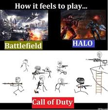 Funny Call Of Duty Memes - battlefield vs halo vs call of duty meme 2015 meme collection