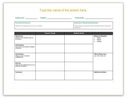 lesson plan template soft templates
