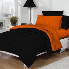 Orange Bed Sets Bed Bath Black Orange 10pc Set For Xl College Beds
