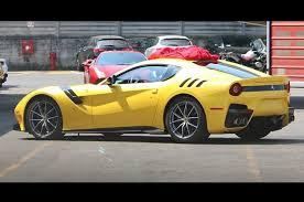 Ferrari F12 Yellow - high performance ferrari f12 spied headed to frankfurt