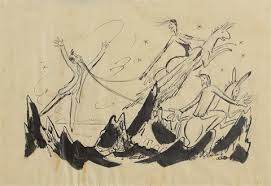 sketch for theatre programme the death of cuchulain and the dandy