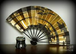 japanese fan japanese fan and pot photograph by renee trenholm