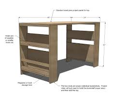 Build A Studio Desk by Ana White Kids Storage Leg Desk Diy Projects