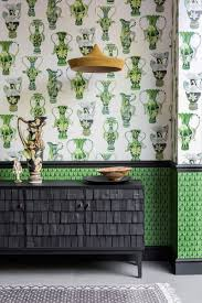 the best wallpaper designs for your living room buffets and cabinets