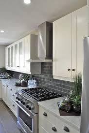 gray backsplash kitchen gray subway tile backsplash for the kitchen white cupboards