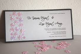 Invitation Cards Handmade - floral sequined handmade wedding invitation card malaysia