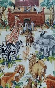 bucilla noahs ark cross stitch kit 40632 nancy 10 x 18