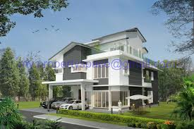 Airplane Bungalow House Plans Interesting Double Storey Bungalow House Design In Modern Home