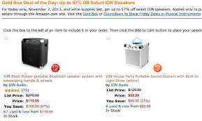 amazon black friday deals bluetooth speakers ion big portable bluetooth party speakers 90 120 shipped 9to5toys