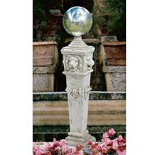 Gazing Ball Pedestals Shop Design Toscano Lion Head Gazing Globe 41 In Architecture
