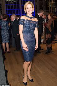darcey bussell earrings darcey bussell wears blue lace dress and necklace in one
