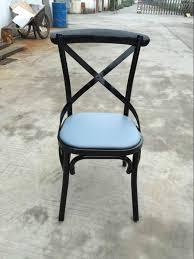 Black Metal Chairs Dining Sprig Bar Bistro Black Metal X Back Industrial Design Dining Chair
