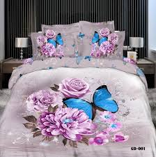 Velvet Comforters King Size 3d Comforters Bedding Set Butterfly Queen King Size 100 Cotton
