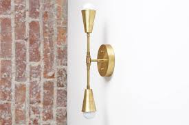 brass sconce light wall sconce modern sconces gold wall