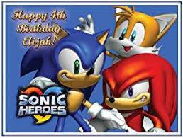 sonic the hedgehog cake topper single source party supplies sonic the hedgehog cake