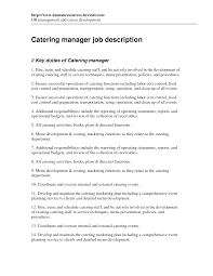 Event Planning Resume Example by Catering Resume Samples Resume For Your Job Application
