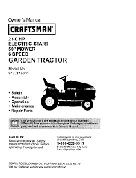 craftsman lawn mowers 23 0 hp 917 275031 pdf user u0027s manual free
